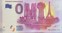BILLET 0  EURO  LA FRANCE MINIATURE FRANCE 2017 NUMERO 100
