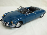 RARE Sun Star 1:18 Blue Citroen DS 19 Cabriolet Platinum Edition Detail Toy Car