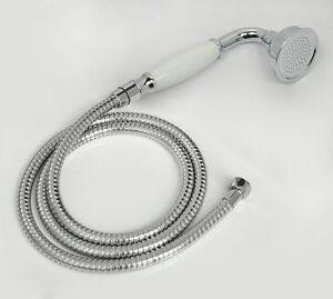 Brass&Ceramic Traditional Telephone Hand Held Shower Head & 1.5m Hose Chrome