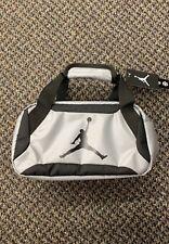 Boys Nike Air Jordan Lunch Box Tote with Carry Handles Grey/Black Bag