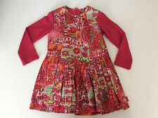 Oilily Girls Dress Size Age 2 Years, 92 Cm, Red, Very Good Condition