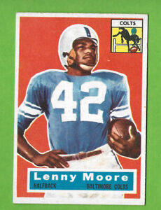 1956 Topps #60 Lenny Moore ROOKIE Baltimore Colts HOF YOU MUST SEE THIS!