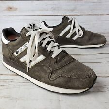 5c2cb701f Adidas ZX 500 Dark Gray White Suede Trefoil Three Stripe Lace Running Shoes  9.5