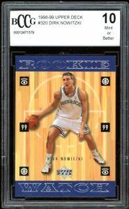 1998-99 Upper Deck #320 Dirk Nowitzki Rookie Card BGS BCCG 10 Mint+