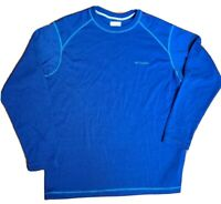 COLUMBIA Men's Long Sleeve Pullover Omni-Wick Sweatshirt Embroidered Logo Sz XL