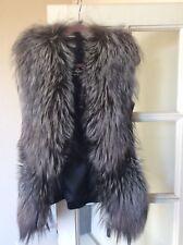 Real Fur Silver Fox Waistcoat Jacket winter Outerwear