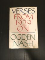 Verses From 1929 On by Ogden Nash vintage 1952 5th printing hardcover