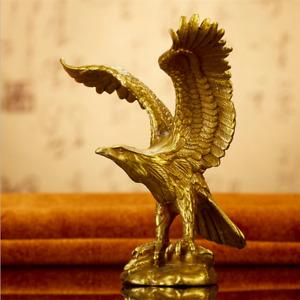 12cm High Chinese Bronze Brass Eagle Statue Hawk Figurine Crafts Home Decoration
