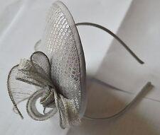 NEW Silver grey sequin hatinator on aliceband fascinator wedding races prom