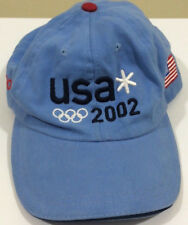 ROOTS 2002 USA Winter OLYMPICS HAT LIGHT BLUE Ballcap Made in Canada