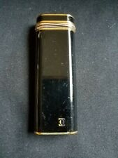 Cartier Black Lacquer And Two Toned Lighter - Authentic