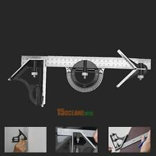 """12"""" ENGINEERS HEAVY DUTY MULTI COMBINATION SQUARE ANGLE FINDER PROTRACTOR RULER"""