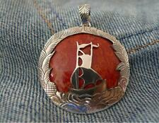 Red Coral 925 Sterling Silver Pendant SilverandSoul Jewellery