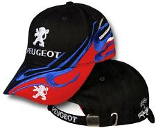 Peugeot Schwarz Rot Kappe Gesticktes Logo Einstellbare Mütze Cap 205 GTI T16