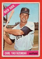 1966 Topps #70 Carl Yastrzemski LOW GRADE CREASE HOF Boston Red Sox FREE S/H