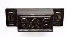 Small Iron French Country Eastlake Antique Farmhouse Hardware Bin Drawer Pull