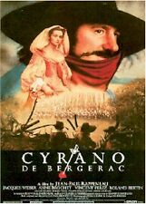 CYRANO DE BERGERAC ~ 26x39 MOVIE POSTER ~ Gerard Depardieu, 1990 ~ NEW/ROLLED!