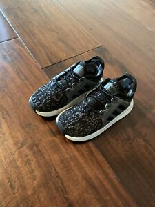 Adidas Toddler Sneakers Size 7 Black Grey White
