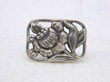 VTG DANECRAFT Patent Pending Sterling Silver Repousse Flower Pin Brooch