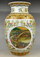 "Old Collectible China Porcelain Handwork Very Rare ""清明上河图""Big Vase"
