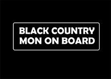 W058 BLACK Country Mon a bordo Divertente Auto Adesivo Van Caravan 4X4 Vinyl Decal