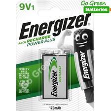 1 x Energizer 9V PP3 Block 175 mAh Rechargeable Batteries HR22 6LR61 HR9V DC1604