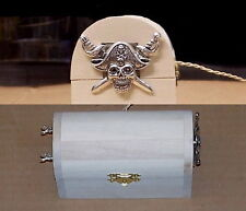 PIRATE crystal & transistor AM RADIO receiver unassembled KIT toy Treasure Chest