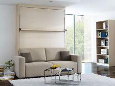 Schrankbett Wandbett mit Sofa Leggio Linea STD 160 x 200 cm Mainau Birke