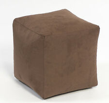 BEANBAGS Brown Faux Suede Cube - Same Day DISPATCH