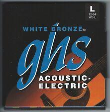 GHS WB-L White Bronze acoustic guitar strings, Light .012-.054