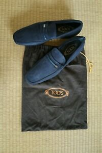 BRAND NEW Size 8.5 TODS Blue Suede Loafers