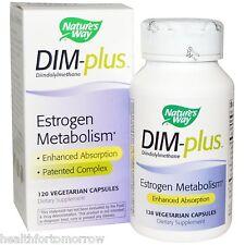 NATURE'S WAY DIM-Plus Estrogen Metabolism Formula 120 Capsules (DIMPLUS)