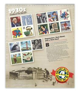 USA 1998 Celebrate the Century 1930s No.4 In A Series of Ten Sheets Stamps MUH