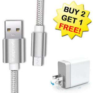 🔥3/6/10Ft Micro USB Fast Charger Cable Wall Charger For Samsung LG HTC Android