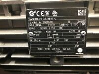 NORD 3-PHASE GEARMOTOR TYPE: SK100LA/4 WITH TYPE: SK9052.1-100LA/4 CUS - NEW