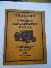 1939 Southern Supply Co Tractor Combine Replacement Parts Catalog Dallas Texas