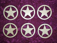 Texas Star Shape Wood Cutout Unfinished Wooden Craft Shapes 6 Pieces
