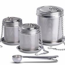 Tea Ball Infuser & Cooking Infuser 3 Pack Extra Fine Mesh Tea Infuser Threaded