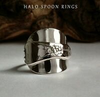 SILVER SPOON RING BEAUTIFUL AND CHUNKY HALLMARKED GAB SWEDEN STOCKHOLM 1946
