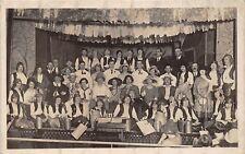 POSTCARD    SOCIAL  HISTORY  Amateur  Dramatics   Cast  Line  Up  ( Where ? )