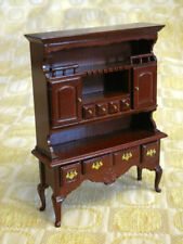 Vintage Dollhouse CONCORD Queen Anne MAHOGANY HUTCH Buffet #4415 BRAND NEW