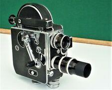 Vintage PAILLARD BOLEX H 8 mm Caméra. deux lentilles
