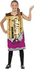 Smiffys Kids Winning Wonka Bar Golden Ticket Costume Book Week  Roald Dahl Day