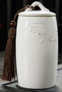 Pine Tree Tea Jar - White