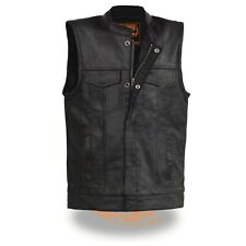 Milwaukee Leather Youth Size Open Neck Snap/Zip Front Club Style Vest* LKY3850
