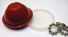 Tupperware Wonderlier Bowl Sheer Maroon Keychain Rare New