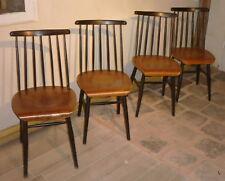 Série de 4 chaises Fanett ilmari Tapiovaara années 50 1ére édition à 7 barreaux