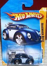2010 Hot Wheels New Models #04-44 Blue Volkswagen Beetle Diecast 4+ Malaysia