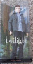 twilight EDWARD cullen barbie collector doll pink label