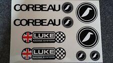 Corbeau Seats / LUKE Harness Sticker Pack